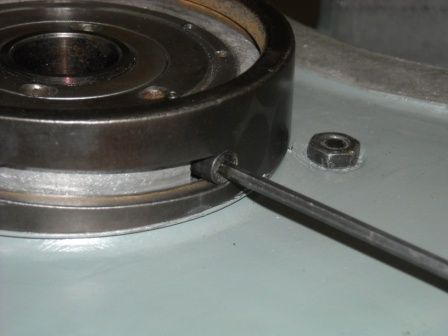 9. Remove the Cam Ring from the Belt Housing.