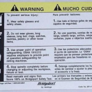 6033 - Warning Plate