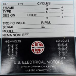 6040 - Motor Data Sticker